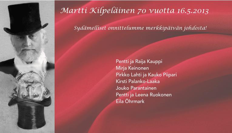 Vihdin Verdi – Martti Kilpeläinen 70 vuotta